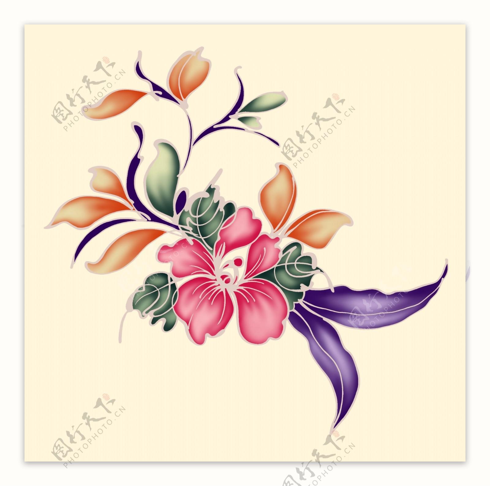 抽象水墨花素材花背景花素材图片