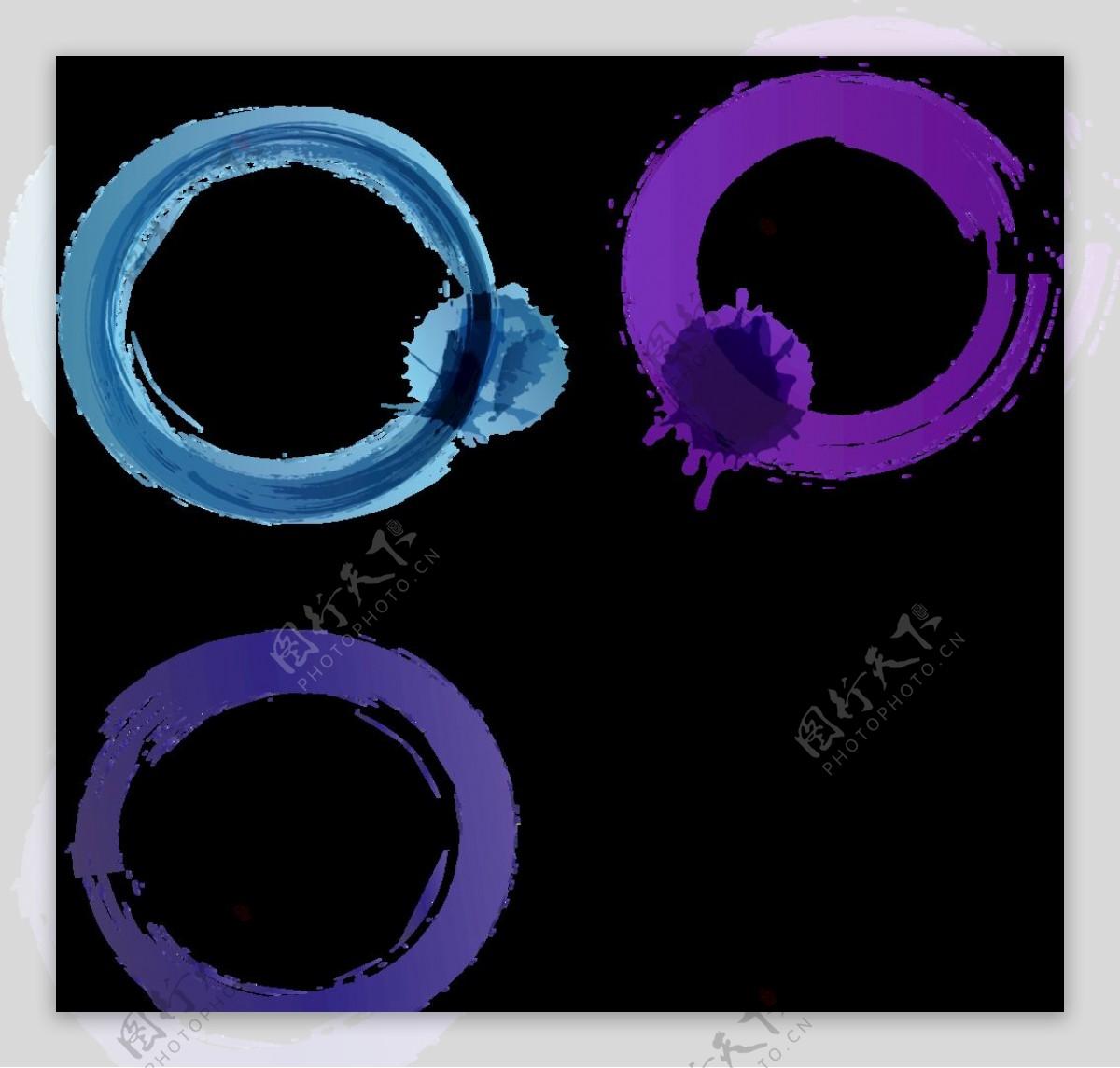 蓝色火焰光圈